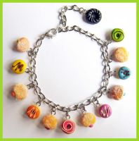 Rainbow Donut Bracelet by cherryboop
