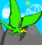Flying through mountains (un digitised) by silverskreell