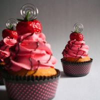Strawberry Faux Cupcake - 04 by CreativeAbubot