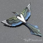 Leather Magpie Barrette by Beadmask