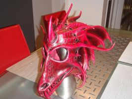 Dragon helmet complet by Red-Dragon-Lord