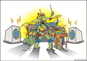 TMNT Band up by lucasdausacker