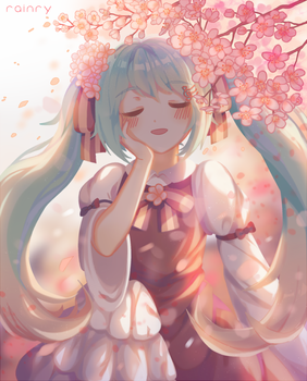 (Miku) Colour of Spring (+speedpaint) by Rainry