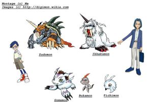 Evolutions of Gomamon by TiagoMC