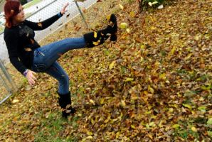 Kicking Up Leaves by Cheslyn
