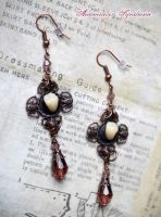 Victorian Mourning Gothic Earrings fake molar III by Verope
