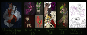 Commission prices (prices have changed) by CremexButter