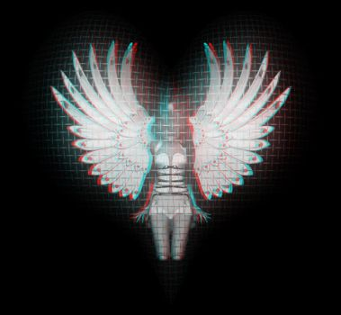 Angel's Heart _3D Anaglyph by fauxquixote