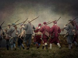 Marching to Ulster 1642 by CouchyCreature