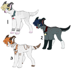 Auction doggos adoptables (open) by PapyJakesAdoptables