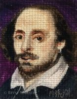 Minuscule William Shakespeare by Paintsmudger
