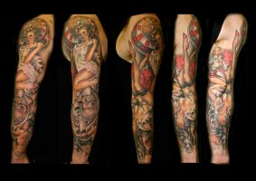 Pinup sleeve by lhpandy