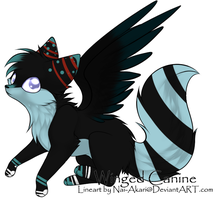 Black/Blue Winged Canine Auction - OPEN! by FrostDragon-Adopts
