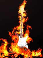 Burning Guitar... by Prizrensoldier
