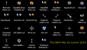 The New Mac OS Cursor 2014 by juanelloo
