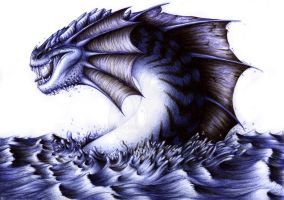Blue dragon by Lintufriikki