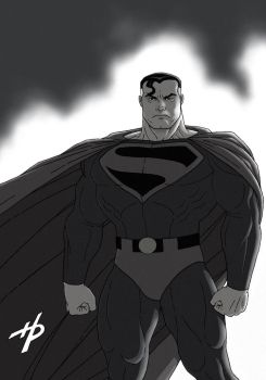 Superman: Kingdom Come (black and white) by Hal-2012