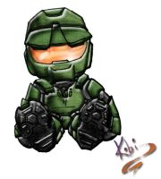Master Chief Plushi by kobi-chan
