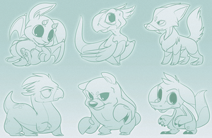 Character Design Sketches 3 by zombie