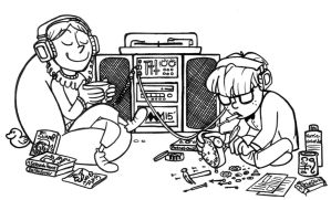 EB-Friends by the Stereo by anniemae04