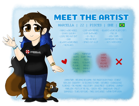 Meet the artist by Marcella-Youko