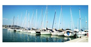 Line of Boats by Rubyvy