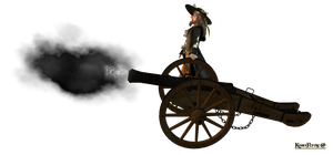 Hector Barbossa with cannon by KomyFly
