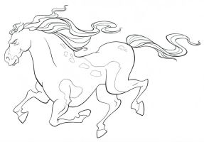 Horse Clean-up Drawing by BrianMainolfi