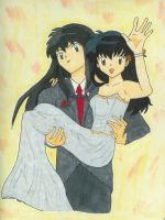 Inuyasha and Kagome at prom by bluepaws21