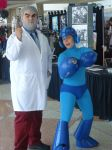 Megaman and Dr. Light by HakuStrife