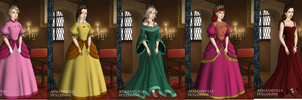 Mario princesses- Tudor style by Failinginart