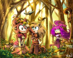 Contest Entry: Playing in the Golden Forest by mino-the-cat