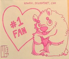 Number One Fan by Kaweki