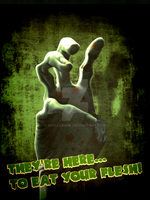 Zombie Hand of Death by skellerone