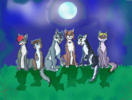 Young Vampires as wolfs by TiElGar