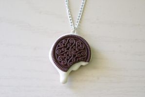 Cute Oreo Necklace by MonsterBrandCrafts