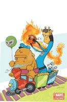 Fantastic-Four-1-Katie-Cook-Animal-Variant by katiecandraw