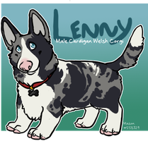 x_. Lenny the Corgi by srspibble