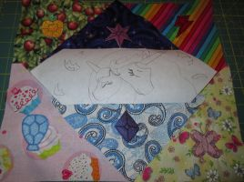 2015 EFN Charity Quilt Square WIP 1 by Drachefrau