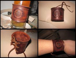 Celtic wrist guard by akinra-workshop