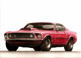 Ford Mustang Boss 429 - 1969 by LukeDesigns