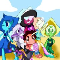 The Crystal Gems Including Lapis by DoraemonFan4Life