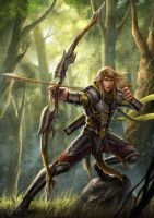 Elven Archer by HappySadCorner