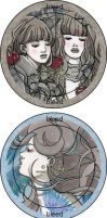 Shuushuu Artist Series Buttons by nati