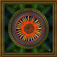 20130124-Golden-Sunburst-Mandala-v18 by quasihedron