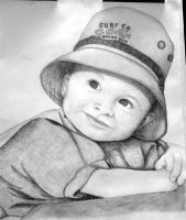 Little boy pencil drawing by ASaunders