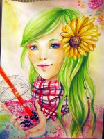 The girl that liked sunflowers by swagpancake