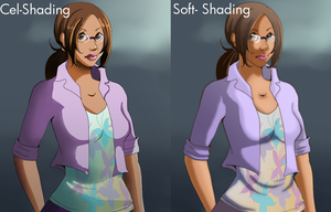 Need Help: Cel-shading vs Soft Shading by Tentagami