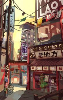 Noodle Shop by renkarts