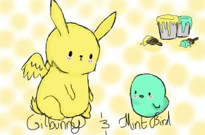Gilbunny and Mint Bird by FlyingMintBunny2